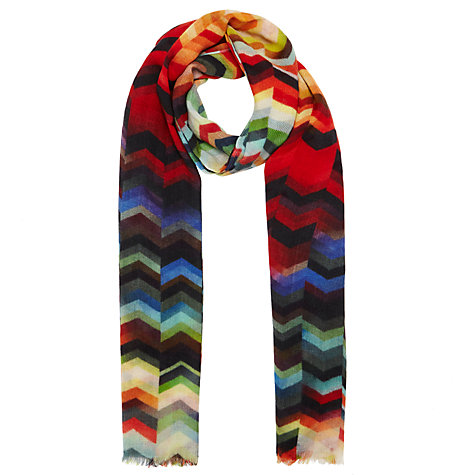 buy lewis silk mix chevron print scarf multi