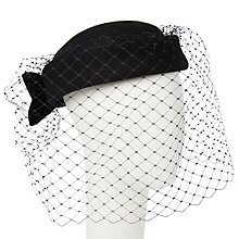 Buy John Lewis Maisy Veil Felt Beret, Black Online at johnlewis.com