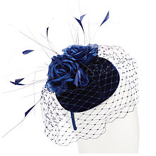 Buy John Lewis Beth Velvet Pillbox Fascinator Online at johnlewis.com