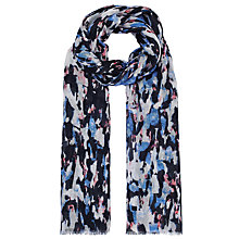Buy John Lewis Capsule Abstract Print Scarf, Blue Online at johnlewis.com