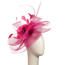 Buy John Lewis Tilly Flower Crin Fascinator, Pink Online at johnlewis.com