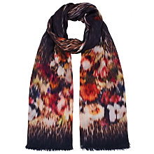 Buy John Lewis Floral Animal Abstract Print Scarf, Brown Online at johnlewis.com