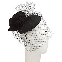 Buy John Lewis Taya Veiled Pillbox Fascinator, Black Online at johnlewis.com