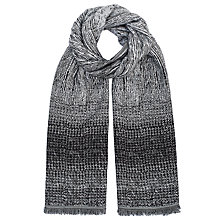 Buy John Lewis Ombre Jacquard Scarf, Black Online at johnlewis.com
