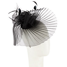 Buy John Lewis Celia Crinkle Crin Occasion Hat, Black Online at johnlewis.com