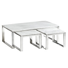 Buy John Lewis Frost Marble Coffee Table and Pair of Side Tables Online at johnlewis.com