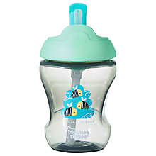 Buy Tommee Tippee Baby Beaker with Straw, 230ml, Green Online at johnlewis.com