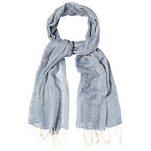 Buy White Stuff Woven Mesh Stripe Scarf, Blue Online at johnlewis.com