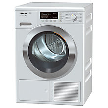 Buy Miele TKG 640 WP Heat Pump Freestanding Tumble Dryer, 8kg Load, A++ Energy Rating, Lotus White Online at johnlewis.com