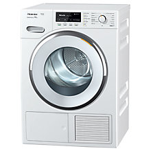Buy Miele TMG 640 WP Heat Pump Freestanding Tumble Dryer, 8kg Load, A++ Energy Rating, Lotus White Online at johnlewis.com