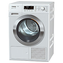 Buy Miele TKR 650 WP Heat Pump Freestanding Tumble Dryer, 9kg Load, A++ Energy Rating, Lotus White Online at johnlewis.com