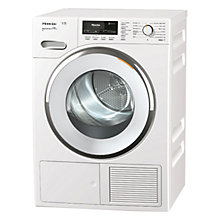 Buy Miele TMR 640 WP Heat Pump Tumble Dryer, 9kg Load, A++ Energy Rating, White Online at johnlewis.com