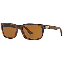 Buy Persol PO3048S Rectangular Framed Sunglasses, Cafe Online at johnlewis.com