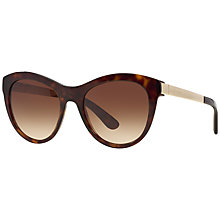 Buy Dolce & Gabbana DG4243 Round Framed Sunglasses, Havana Online at johnlewis.com