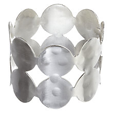 Buy John Lewis Circle Metal Napkin Ring, Set of 4, Silver Online at johnlewis.com