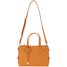 Buy Jaeger Maddison Leather Top Handle Shoulder Bag, Orange Online at johnlewis.com