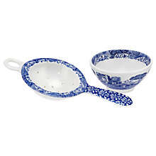 Buy Spode Blue Italian Tea Strainer/Rest Online at johnlewis.com