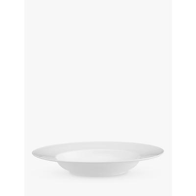 John Lewis Concave Bone China 29cm Bowl, White