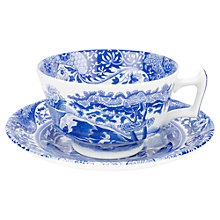 Buy Spode Blue Italian Teacup & Saucer Online at johnlewis.com