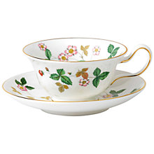 Buy Wedgwood Wild Strawberry Teacup and Saucer Online at johnlewis.com