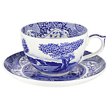 Buy Spode Blue Italian Jumbo Cup & Saucer Online at johnlewis.com