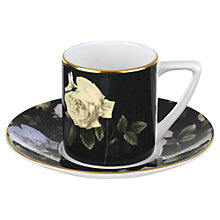 Buy Ted Baker Rosie Lee Espresso Cup and Saucer, Black Online at johnlewis.com