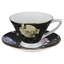 Buy Ted Baker Rosie Lee Teacup and Saucer, Black Online at johnlewis.com