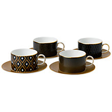Buy Wedgwood Arris Teacups and Saucers, Set of 4 Online at johnlewis.com
