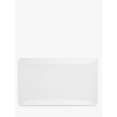 John Lewis Concave Bone China 38cm Platter, White