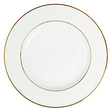 Buy John Lewis Gold Band Side Plate, White Online at johnlewis.com