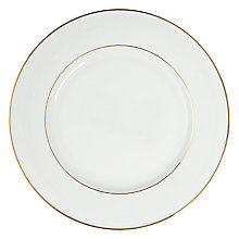 Buy John Lewis Gold Band Dinner Plate, White Online at johnlewis.com