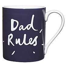 "Buy John Lewis Hand Painted ""Dad Rules"" Mug Online at johnlewis.com"