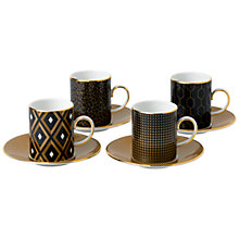 Buy Wedgwood Arris Espresso Cups and Saucers, Set of 4 Online at johnlewis.com