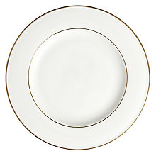 Buy John Lewis Gold Band Dessert Plate, White Online at johnlewis.com