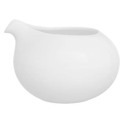 John Lewis Concave Bone China Cream Jug, 300ml, White
