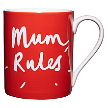 Buy John Lewis Mum Rules Mug, Pink Online at johnlewis.com
