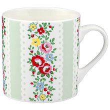 Buy Cath Kidston Lace Stripe Billie Mug, Duck Egg Online at johnlewis.com