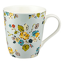 Buy Cath Kidston Woodland Rose Stanley Mug, Blue Online at johnlewis.com