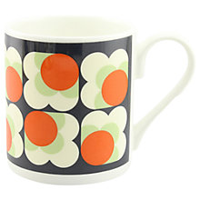 Buy Orla Kiely New Print Flower Mug, Blue/Orange Online at johnlewis.com