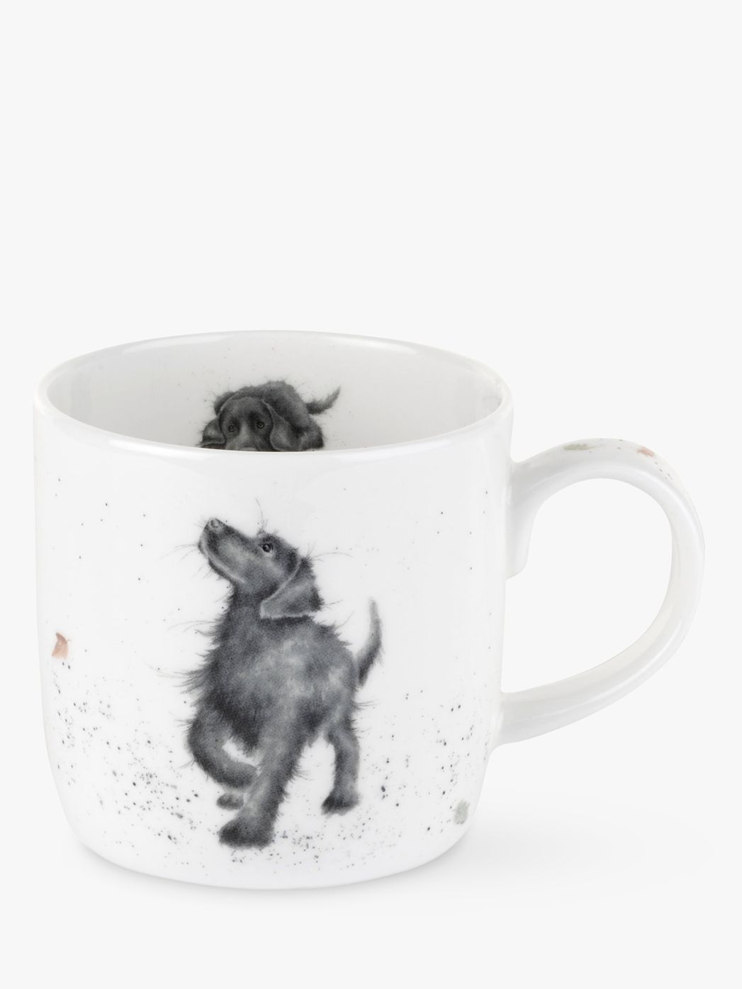Royal Worcester Royal Worcester Wrendale Black Lab Walkies Mug