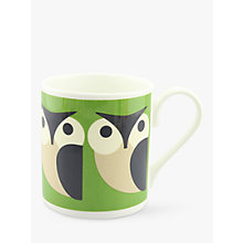 Buy Orla Kiely Olly Owl Mug, Green Online at johnlewis.com