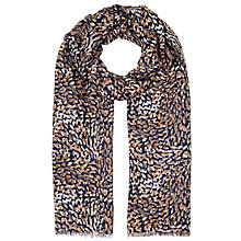Buy John Lewis Camo Animal Print Scarf, Navy Online at johnlewis.com