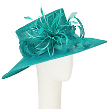 Buy John Lewis Kirsty Sinamay Occasion Hat,  Turquoise Online at johnlewis.com