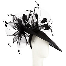 Buy John Lewis Polly Sinamay Disc Occasion Hat, Black Online at johnlewis.com