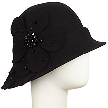 Buy John Lewis May Felt Cloche Flower Hat, Black Online at johnlewis.com