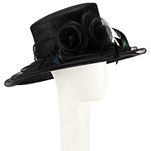 Buy John Lewis Annie Crin Flower Detail Occasion Hat, Black Online at johnlewis.com