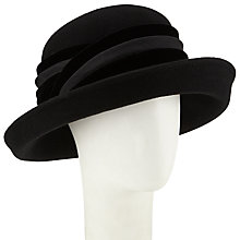 Buy John Lewis Cassie Felt Breton Upturn Hat, Black Online at johnlewis.com