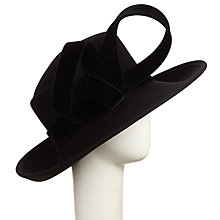 Buy John Lewis Nicole Trilby Loop Occasion Hat, Black Online at johnlewis.com