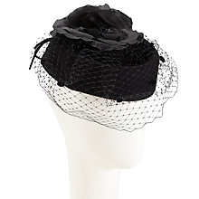 Buy Walter Wright Amber Gutter Pillbox Flower Occasion Hat, Black Online at johnlewis.com