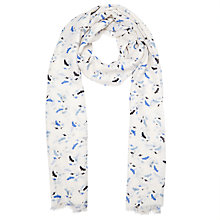 Buy John Lewis Swallow Cluster Scarf, Cream Online at johnlewis.com